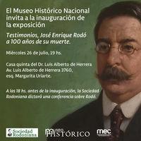 Testimonios. José Enrique Rodó a 100 años de su muerte