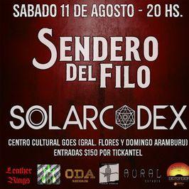 Sendero del Filo y Solarcodex en vivo
