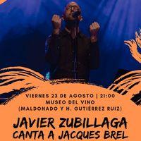 Javier Zubillaga canta a Jacques Brel