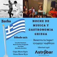 Noche de música y gastronomía griega