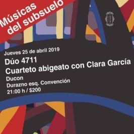 Dúo 4711Cuarteto AbigeatoClara García